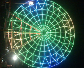 الصين Super Color Amusement Park Led Rgb Pixel Ferris Wheel Decoration المزود